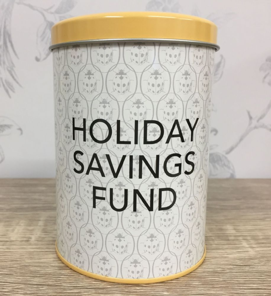 Ladybird Vintage Design Savings Tin ~ Holiday Fund ~ Money Box